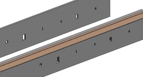 Revit extension Cut Opening automatically generates holes for MEP services, doors, windows, beams & columns