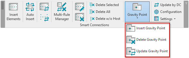 Smart Connections Insert, update, or delete gravity point