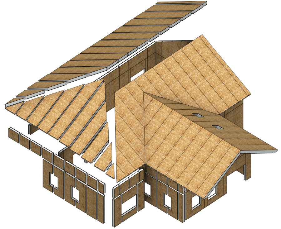 Wood Framing Building structure SIPs only