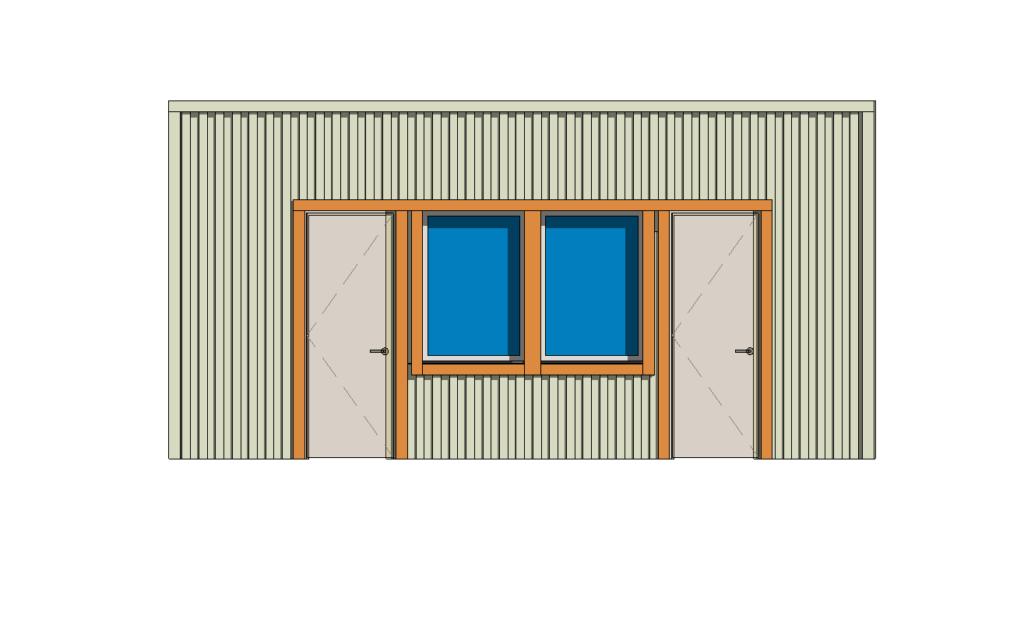 Wood Framing Wood frame with vertical siding