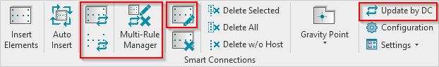Smart Connections insert, update, or modify elements that have already been inserted