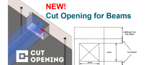 How to cut openings for beams in structural walls of Revit model? Use Revit app Cut Opening