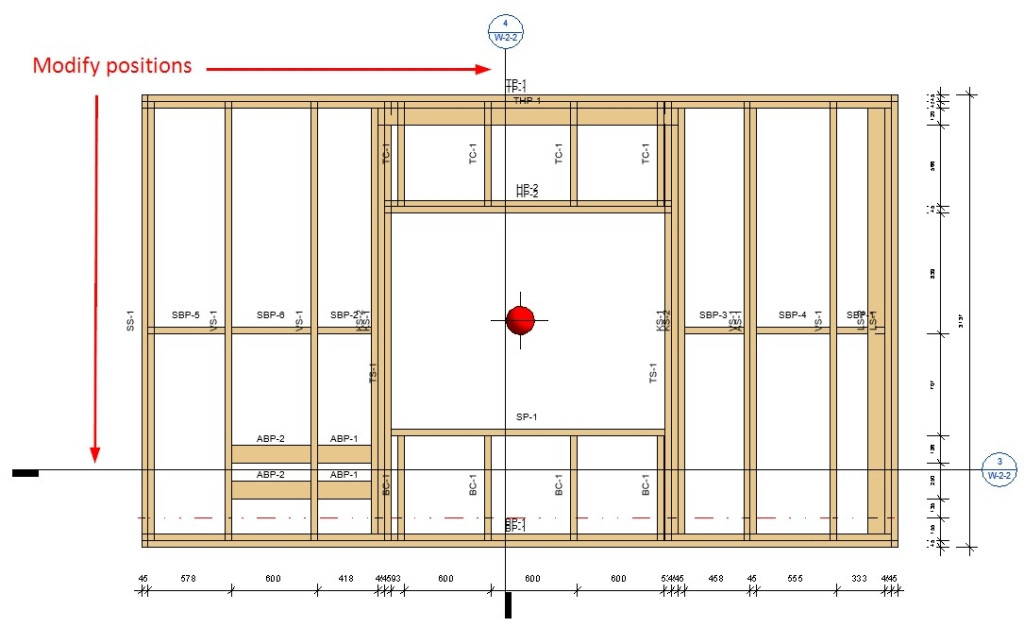 Placement of assembly views using AGACAD's Wood/Metal Framing BIM design tools for Autodesk Revit