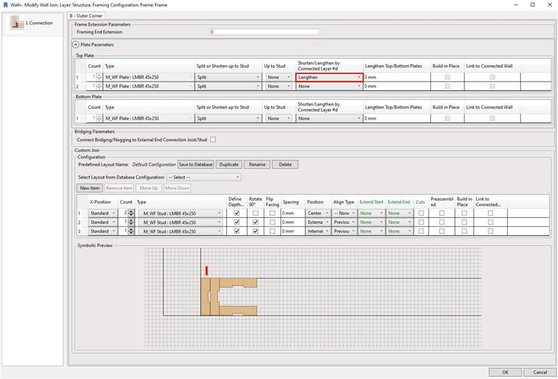 Top and bottom plate connection control in AGACAD's Wood/Metal Framing BIM design tools for Autodesk Revit
