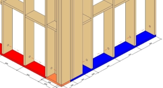 Bottom plate connection control in AGACAD's Wood/Metal Framing BIM design tools for Autodesk Revit