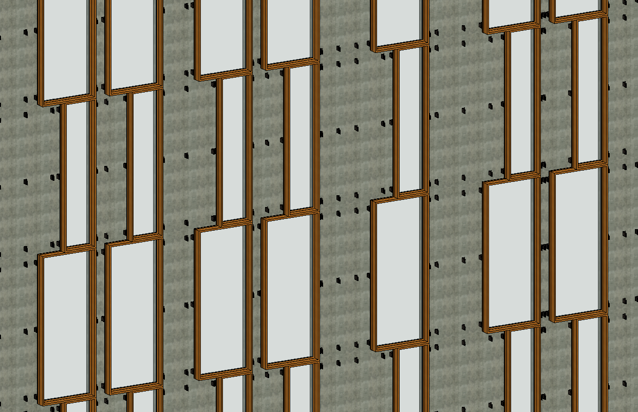 Realistic view of ventilated facade