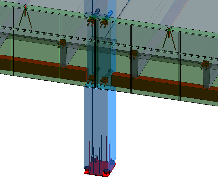 Precast spandrel walls connection to column