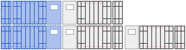 Showing non-mirrored wall frame groups in Revit using AGACAD Wood Framing Wall software
