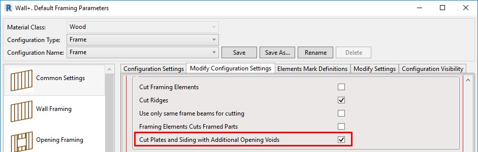 Configuration to Cut Plates and Siding boards with additional opening void in Revit