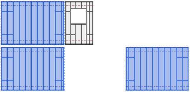 A wall frame removed from group in Revit
