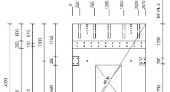 Finished drawing with dimensions in Revit using AGACAD Smart Dimensions