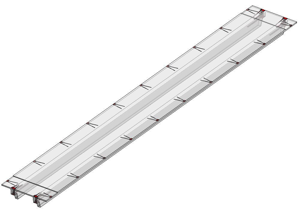 Connections and cuts for precast concrete double tee slabs