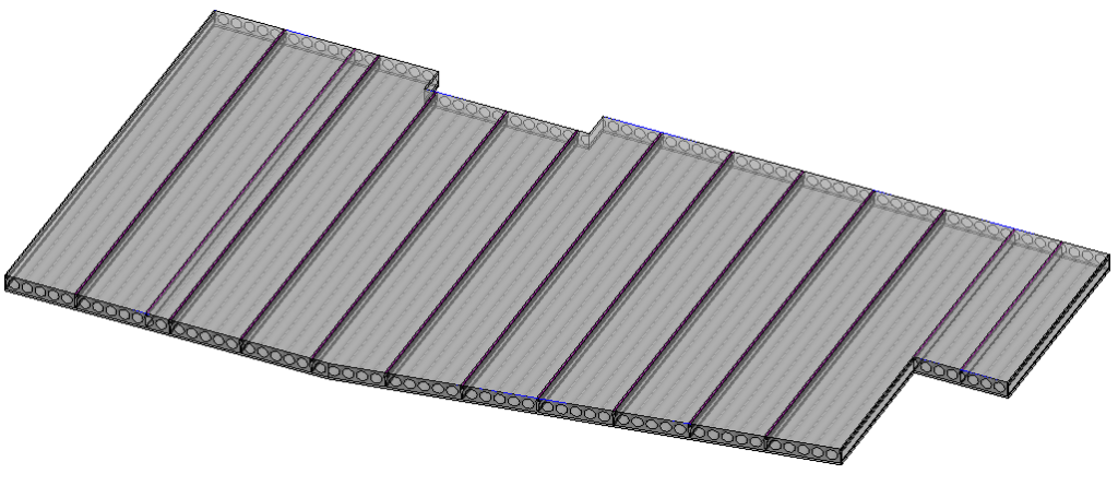 Hollow core slab layout