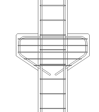 Reinforcement of symetrical corbels