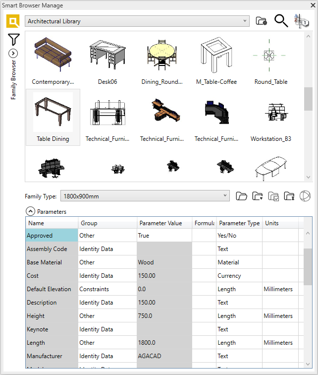 Family Browser Architectural Library | AGACAD's Smart Browser for Revit