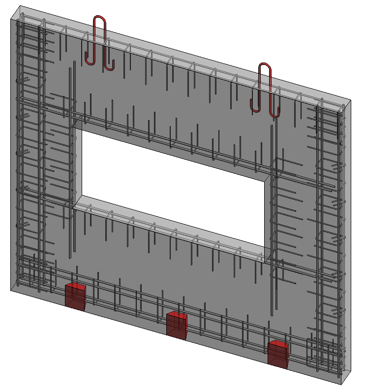 Special reinfocement of wall edges in Revit