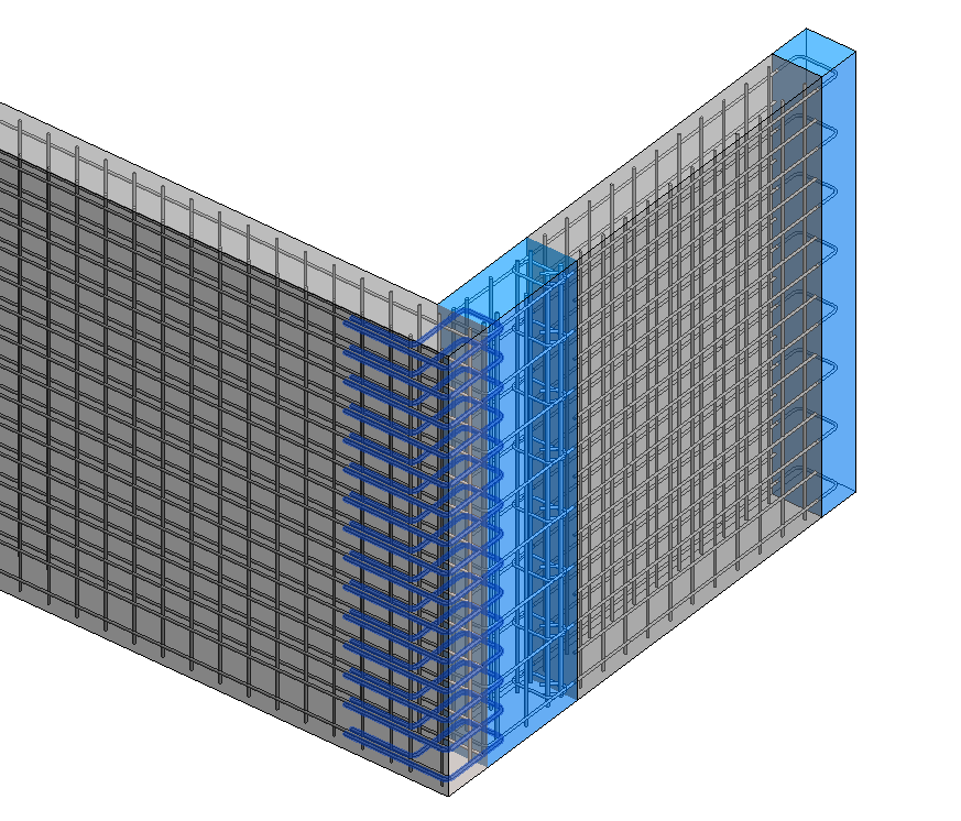 Wall reinforcement for seismic connection type in Revit