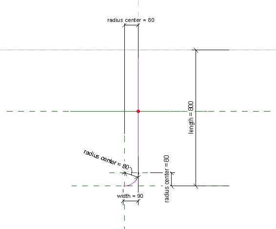 Sketch of grout tube in Revit
