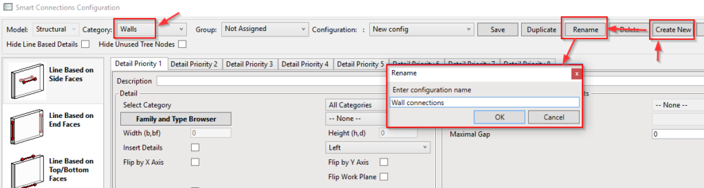 Creating new configuration for Smart Connections Revit tool