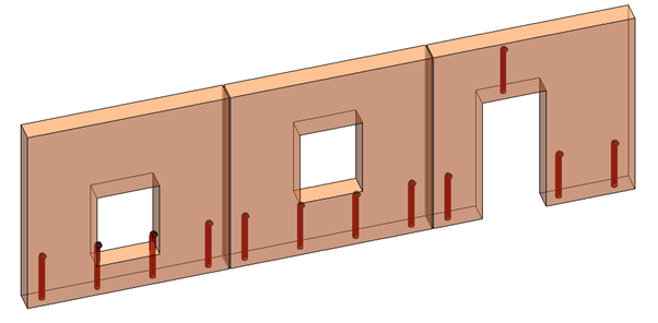 Grout tubes that protrude into window openings with low sill height