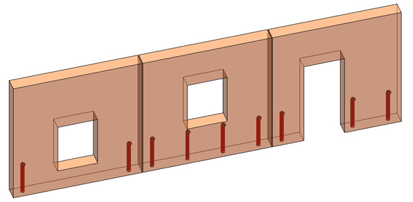 Properly placed grout tubes in Revit