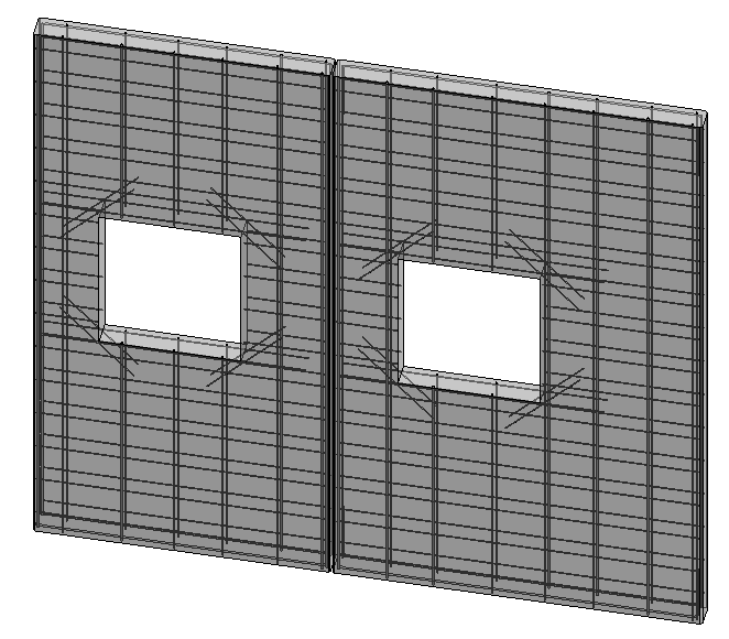 Precast concrete wall reinforced with strands in Revit