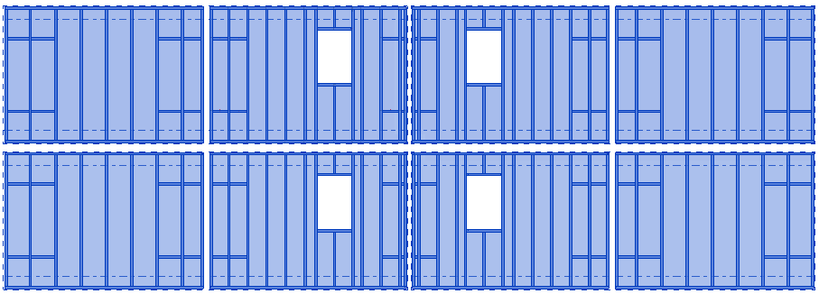 Auto-generating frames for walls in Revit