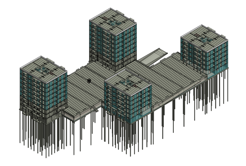 Precast Concrete model in Revit using AGACAD addons