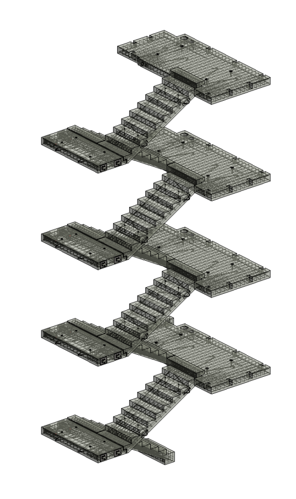 Precast Concrete stairs modeled in Revit