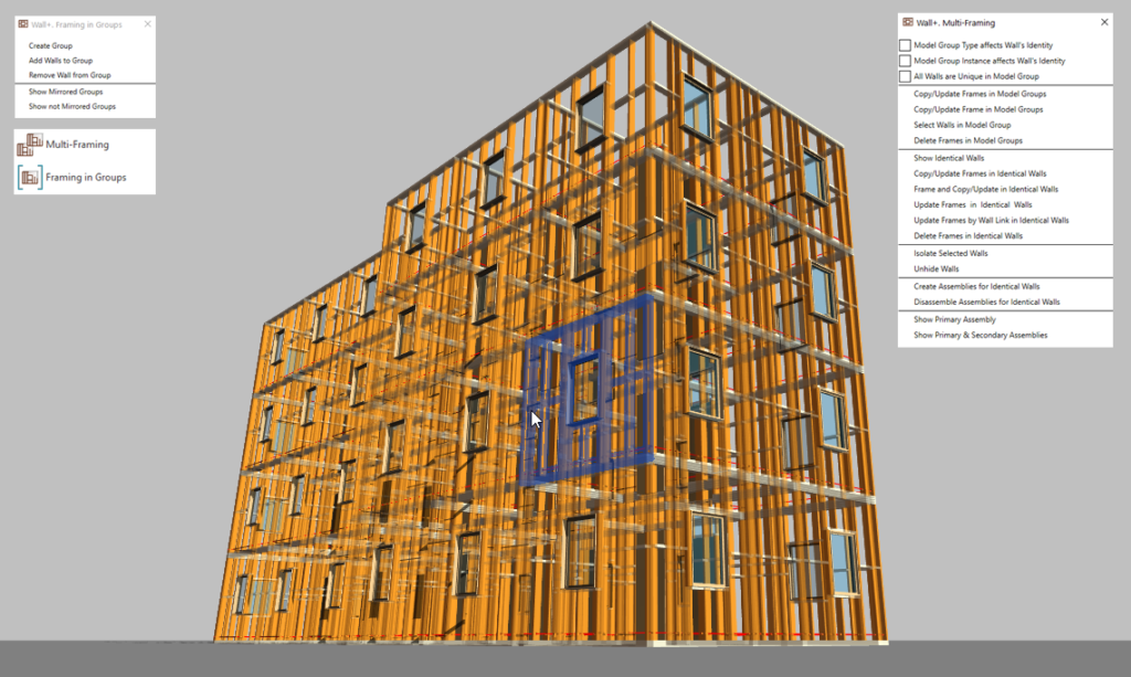 Multi-framing large scale Revit projects