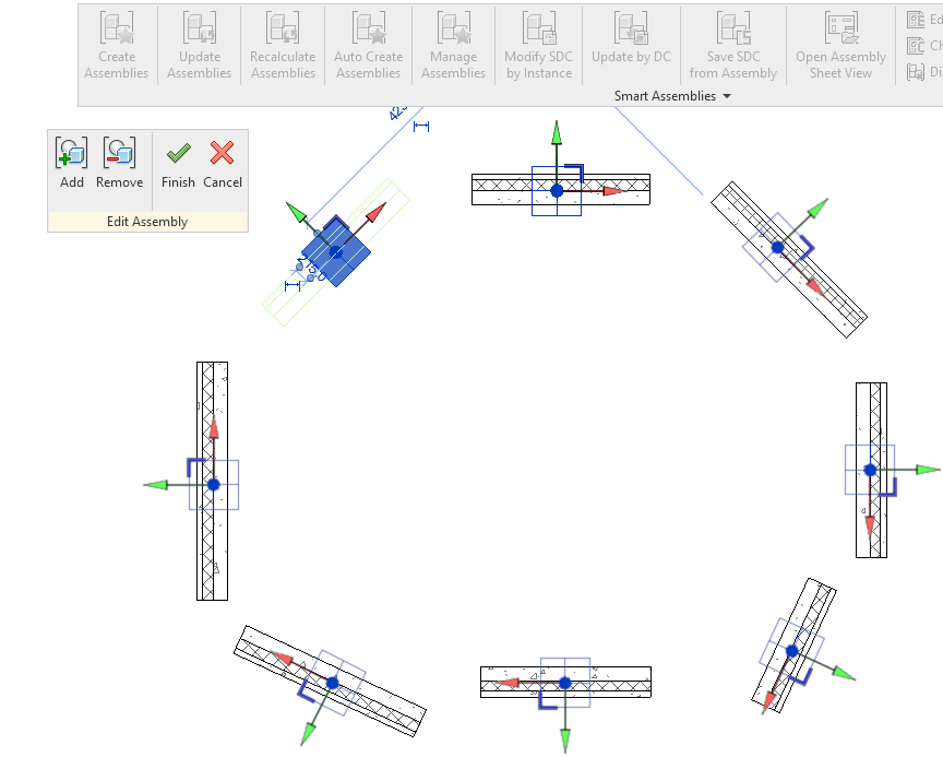 Revit assembly origin automatically rotated