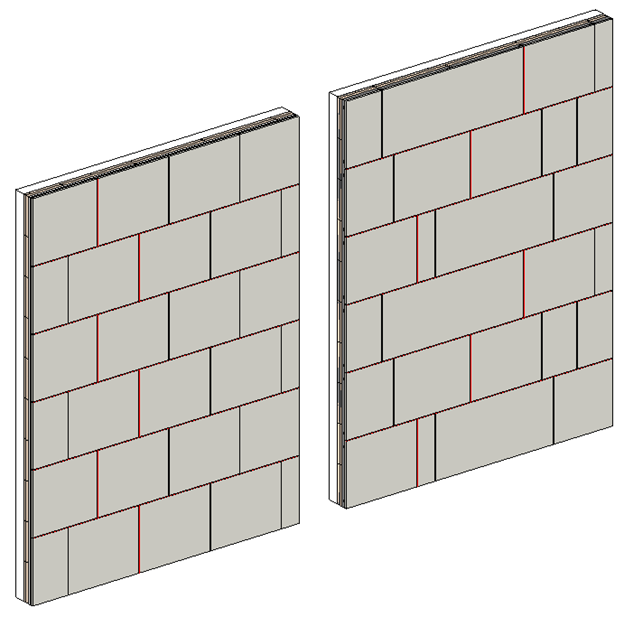 exterior cladding on wall panels in Revit