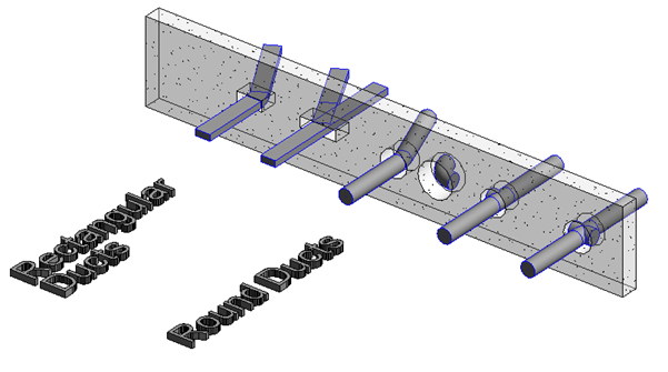 round and rectangular ducts passing through a wall