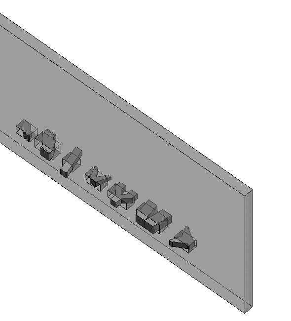 rectangular duct fittings intersecting with a wall in Revit