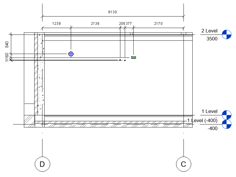 Dimensions around wall openings in Revit
