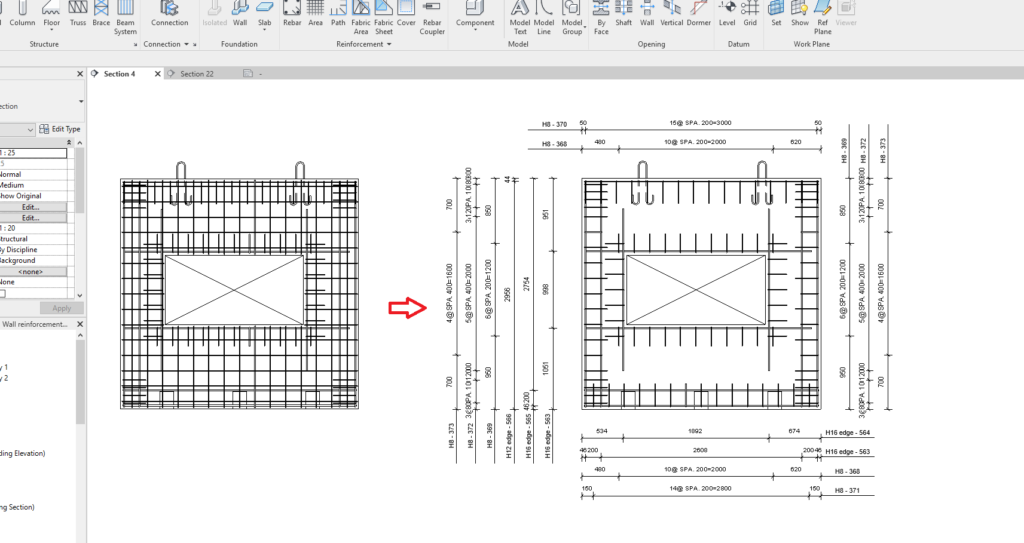 using AGACAD's Wall Reinforcement and Smart Assemblies tools for Revit in tandem