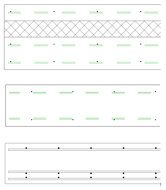 Fabric Area layouts you can get in Revit using AGACAD Wall Reinforcement tool