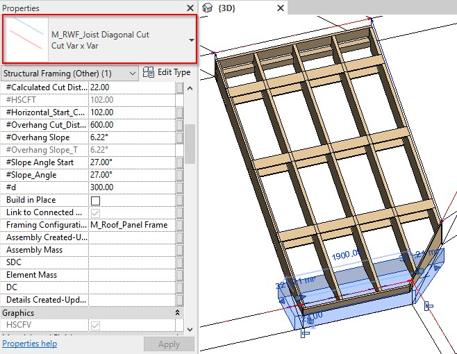 New cutting technology for Roof+ in Revit with AGACAD Framing Tools