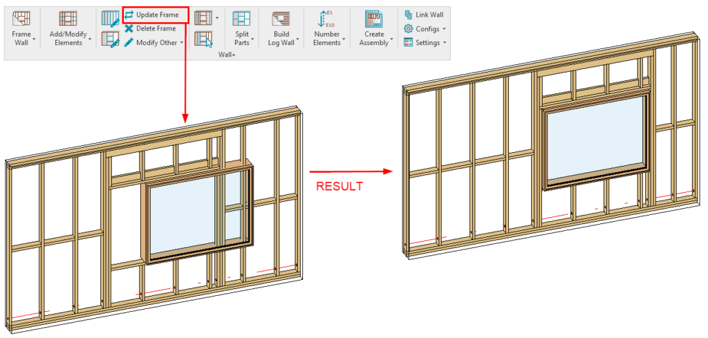 update frame in Revit with AGACAD