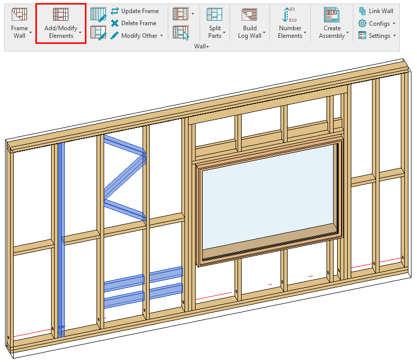 add elements to frame in Revit with AGACAD