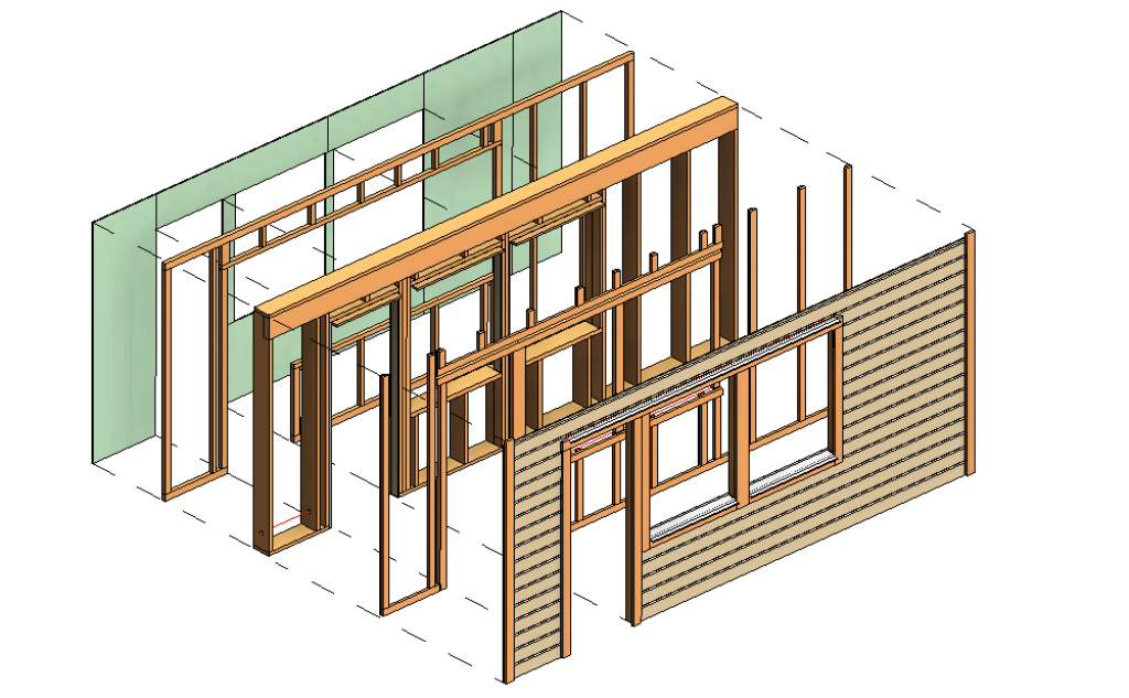 wall layers in Revit framed with AGACAD