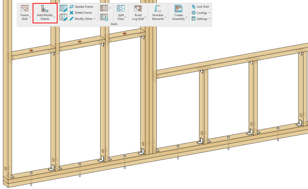 adding details to a frame in Revit