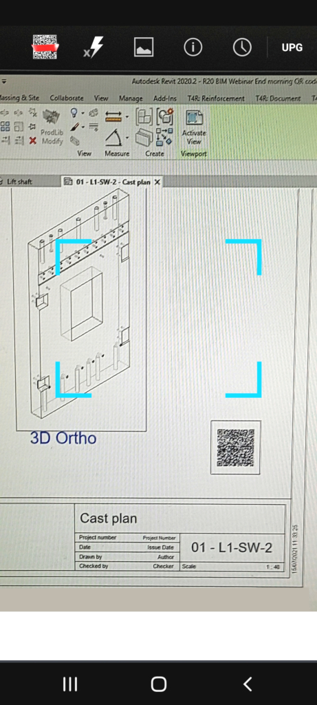 using phone to scan QR code