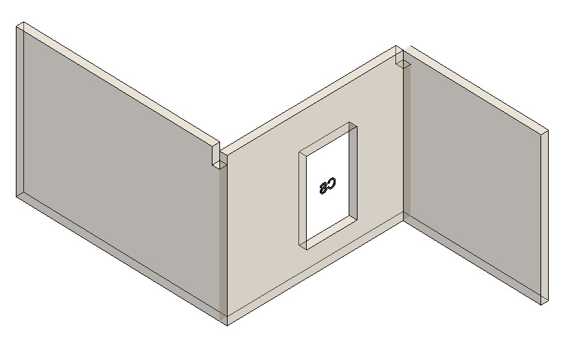 Openings inserted in architectural wall in Revit