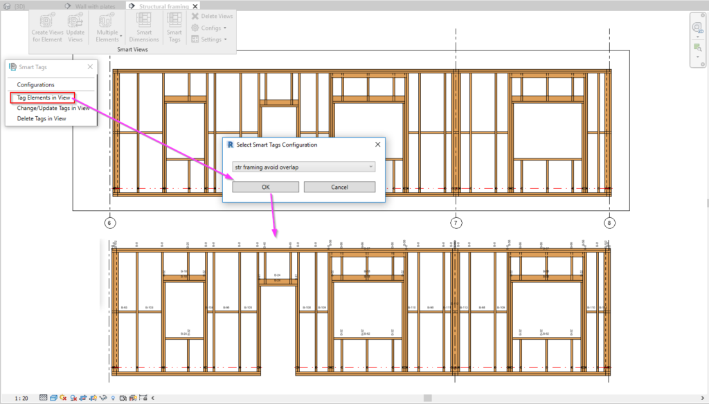 Tag elements in selected view in Revit