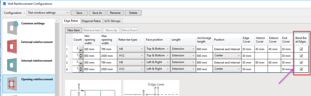 Auto-bend rebar at wall edges in Revit