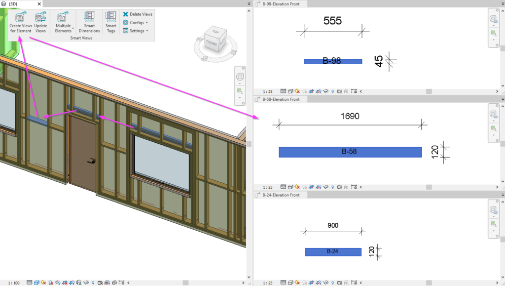 Create isolated views for structural framing elements in Revit