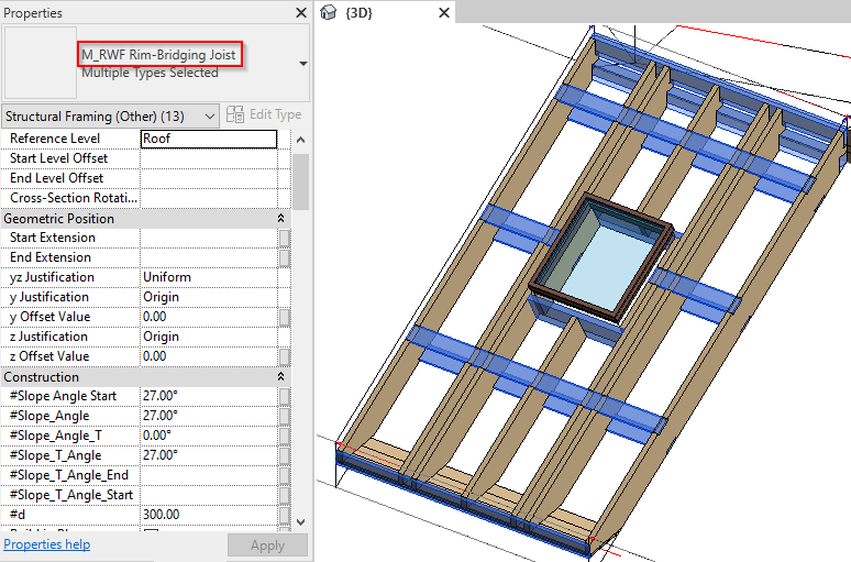 Better Revit families for framing roofs with wood