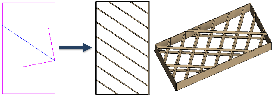 Align the whole framing direction with the roof slope arrow in Revit