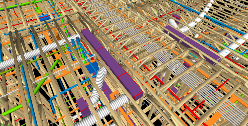 Detecting clashes between framing and MEP in Navisworks